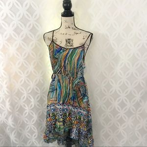 Ya Los Angeles Spaghetti Straps High Low Dress
